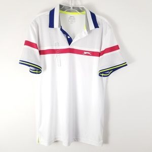 Slazenger Mens Polo White Small New